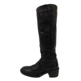 ファビオルスコーニ(FABIO RUSCONI)のファビオルスコーニ ロングブーツ レザー 36.5 23.5cm 黒(ブーツ)