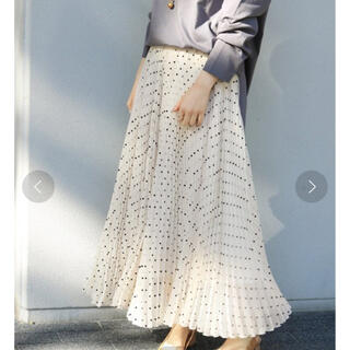 IENA - フロッキードットプリーツスカート IENAイエナ