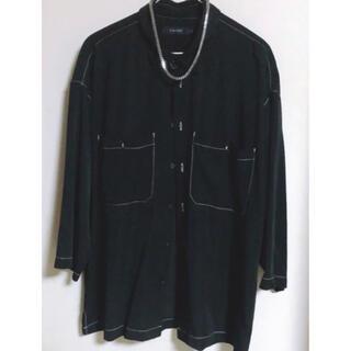 レイジブルー(RAGEBLUE)のカラー···ブラック  オープンカラーシャツ サイズ M  定価6000円程(シャツ)