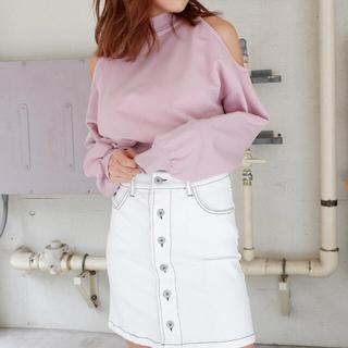 スパイラルガール(SPIRAL GIRL)のSPIRALGIRL オープンショルダー(Tシャツ(半袖/袖なし))