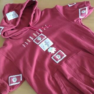 ピンクハウス(PINK HOUSE)のピンクハウス フード付半袖トレーナー(トレーナー/スウェット)