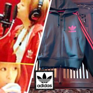 adidas - アディダス オリジナルス 黒×ピンク ジャージ パーカー ジャケット 浜崎あゆみ