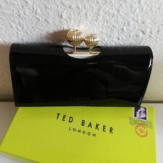 テッドベイカー(TED BAKER)のTed Baker エナメル長財布☆黒 (財布)