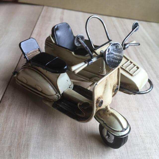 ブリキのサイドカーバイク ベスパ★プチブライスを乗せて インテリア/住まい/日用品のインテリア小物(置物)の商品写真