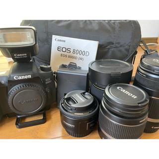 Canon - 一眼レフ Canon8000D レンズ4本付き