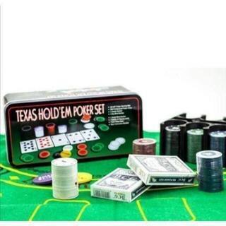 ポーカーセット ポーカーチップ トランプ バカラ ケース マット付(トランプ/UNO)