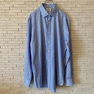 ユナイテッドアローズ(UNITED ARROWS)のユナイテッドアローズ ギンガムチェック 長袖ボタンダウンシャツ ブルー・ホワイト(シャツ)