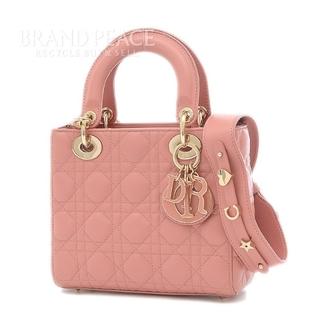 ディオール(Dior)のディオール マイ レディーディオール ハンドバッグ レザー ピンクベージュ M0(ハンドバッグ)