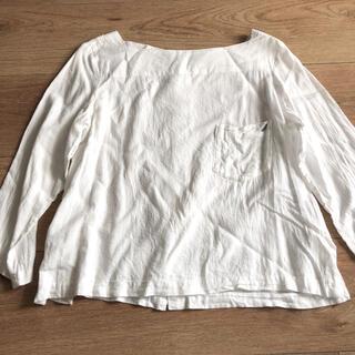 MUJI (無印良品) - ホワイトブラウス トップス 左胸ポケット サイズLL