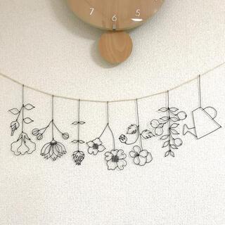 お花のガーランド ワイヤークラフト フラワー
