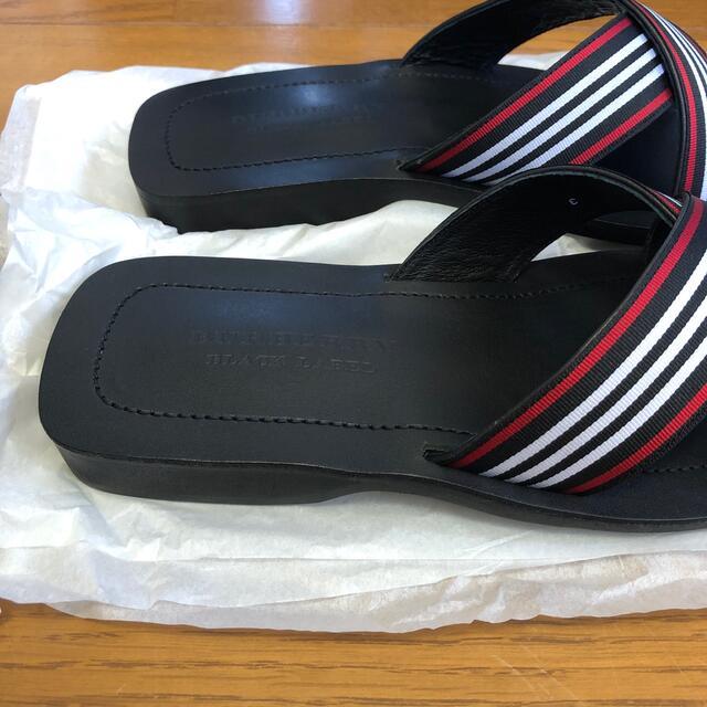 BURBERRY BLACK LABEL(バーバリーブラックレーベル)の新品未使用 Burberry Black Label サンダル メンズの靴/シューズ(サンダル)の商品写真