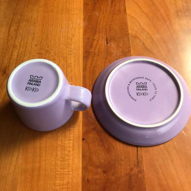 ARABIA(アラビア)のARABIA koko エスプレッソカップ & ソーサー インテリア/住まい/日用品のキッチン/食器(グラス/カップ)の商品写真