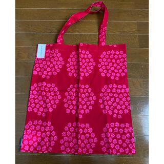 マリメッコ(marimekko)の新品未使用☆マリメッコ  プケッティ トートバッグ 赤×ピンク(トートバッグ)