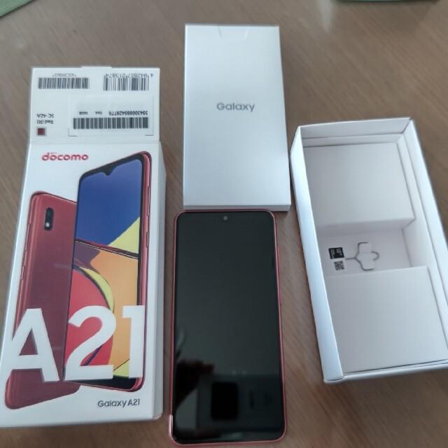 NTTdocomo(エヌティティドコモ)のGalaxy A21 新品未使用 値下げ スマホ/家電/カメラのスマートフォン/携帯電話(スマートフォン本体)の商品写真
