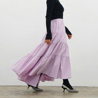 ドゥロワー(Drawer)のshe tokyo 36 ライラック スカート Lisa(ロングスカート)