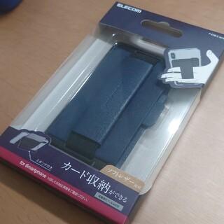 ELECOM - スマホ 背面 バンド カード収納 スタンド付き 落下防止 ELECOM