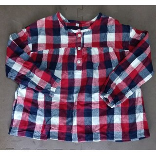 ムジルシリョウヒン(MUJI (無印良品))の無印良品 130cm 女の子 長袖トップス(Tシャツ/カットソー)