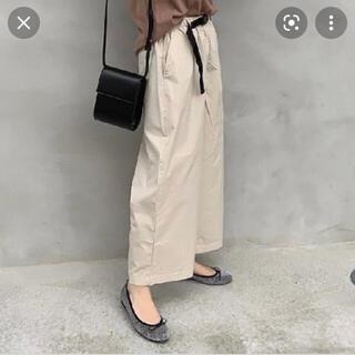 MUJI (無印良品) - 【無印良品】ストレッチ高密度織り ワイドクロップドパンツ