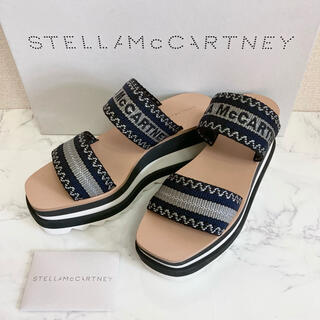 Stella McCartney - STELLA McCARTNEY ロゴ サンダル 24.0 レアアイテム