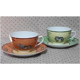 エルメス(Hermes)のHERMES エルメス モーニングカップ & ソーサー(グラス/カップ)