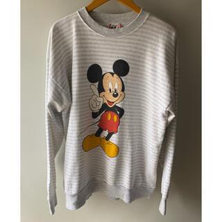ミッキーマウス(ミッキーマウス)のレアUSA製80~90年代 ディズニー ミッキー 長袖スエット ヴィンテージ  (スウェット)