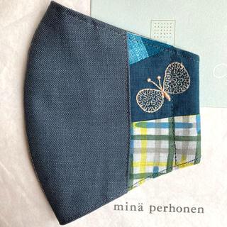 ミナペルホネン(mina perhonen)のハンドメイドインナーマスク*ミナペルホネン choucho ♪  63(その他)
