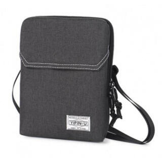 サコッシュ バッグ ショルダーバッグ 濃いグレー ポーター風 旅行 大容量 防水(ショルダーバッグ)