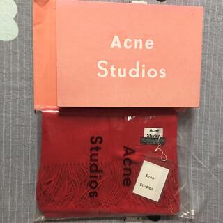 アクネ(ACNE)のacne studios マフラー赤(マフラー/ショール)