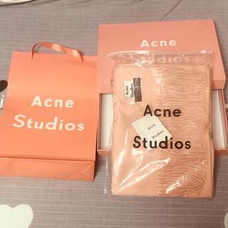 アクネ(ACNE)のacne studios マフラーピンク(マフラー/ショール)