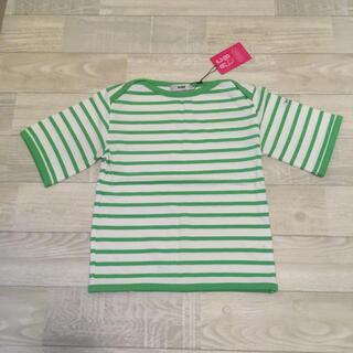 ロデオクラウンズワイドボウル(RODEO CROWNS WIDE BOWL)の新品タグ付 キッズボーダーTシャツ ロデオクラウンズ RCWB(Tシャツ/カットソー)