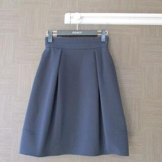フォクシー(FOXEY)のフォクシー FOXEY ネイビー スカート 38 日本製 春秋(ひざ丈スカート)
