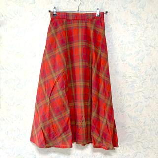 サマンサモスモス(SM2)のSM2 チェック スカート(ロングスカート)