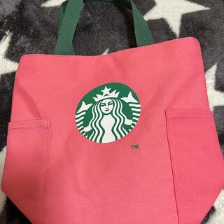 Starbucks Coffee - スターバックストートバッグ ピンク