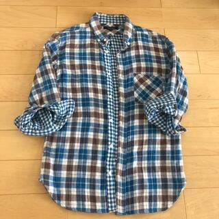 ユナイテッドアローズ(UNITED ARROWS)の美品 ユナイテッドアローズ    メンズ チェックシャツ 青(シャツ)