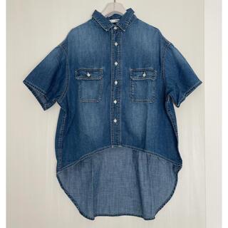 ジェイダ(GYDA)のH00833 GYDA  バックロングハーフスリーブデニムシャツ(Tシャツ(半袖/袖なし))