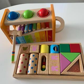 ミキハウス(mikihouse)のハペ、ミキハウス 知育玩具 2点セット(知育玩具)