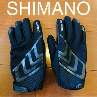 SHIMANO - 【SHIMANO】メンズ L 秋冬用 グローブ(黒・自転車・バイク・防寒)