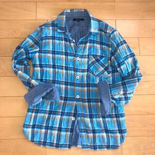 ユナイテッドアローズ(UNITED ARROWS)のユナイテッドアローズ   チェック柄ネルシャツ 青(シャツ)