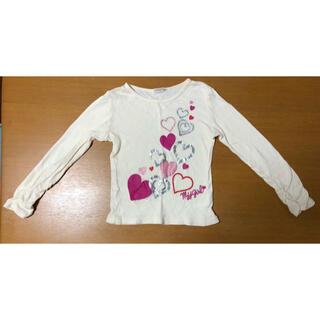 ムージョンジョン(mou jon jon)のムージョンジョン ロンT ハート柄 110cm(Tシャツ/カットソー)