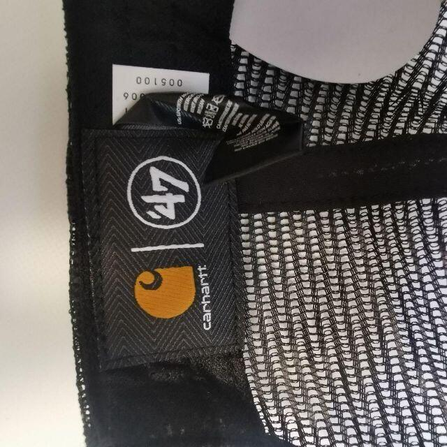 carhartt(カーハート)の【新品】ホワイト・ソックス★カーハートx47 メッシュ キャップ★ブラック メンズの帽子(キャップ)の商品写真