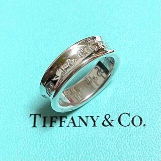 Tiffany & Co. - 【美品】ティファニー 1837 ナロー ワイド リング メンズ 18号 シルバー