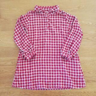 ムジルシリョウヒン(MUJI (無印良品))の無印良品 チェック柄 チュニック 130cm(Tシャツ/カットソー)