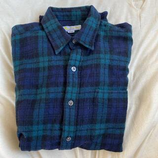 アクアスキュータム(AQUA SCUTUM)のアクアスキュータム 長袖シャツ ウールチェックシャツ(シャツ)