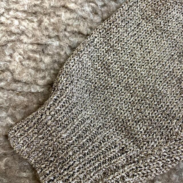 DEUXIEME CLASSE(ドゥーズィエムクラス)のバイマレーネビルガー  もこもこ ラメ 異素材 ニット  ベージュ レディースのトップス(ニット/セーター)の商品写真