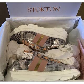 新品未使用 STOKTON  厚底スニーカー ピンク(スニーカー)