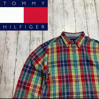 TOMMY HILFIGER - 【TOMMY HILFIGER】トミーヒルフィガー マルチカラー チェックシャツ