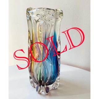 Vintage Glass Flower Vase  ガラス 花瓶 ヴィンテージ