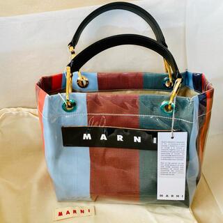 Marni - ★新品 【MARNI】ストライプ GLOSSY GRIP TOTE BAG
