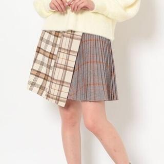 マーキュリーデュオ(MERCURYDUO)のマーキュリーデュオ チェックミニスカート プリーツスカート 台形スカート(ミニスカート)