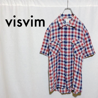 ヴィスヴィム(VISVIM)の【極美品】visvim ヴィスヴィム 半袖 チェックシャツ メンズ 1(シャツ)